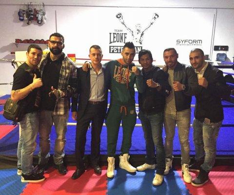 Da sinistra: Gago Drago, Alessio Sakara, io, Giorgio Petrosyan, Kaopon Lek, Shemsi Beqiri, Armen Petrosyan