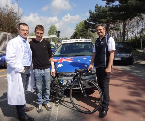 Patrick Lane ed Emidio Pacecca - Australian Cycling Team