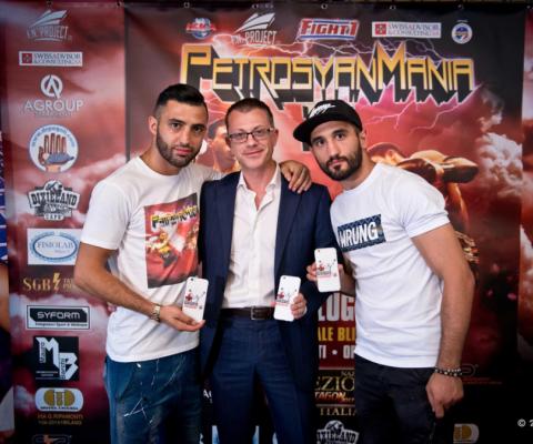 Con Giorgio ed Armen Petrosyan alla Press Conference di PetrosyanMania II