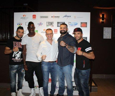 Da sinistra: Giorgio Petrosyan, Mario Balotelli, Io, Alessio Sakara, Armen Petrosyan