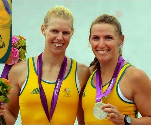 Sarah Tait (a sinistra), canottaggio Australia, Medaglia argento olimpica, Londra 2012